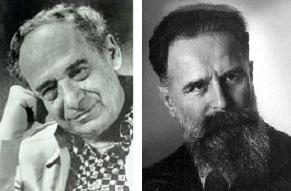 פרופ' לאו אריה מאיר (ימין), פרופ' ד. איילון (שמאל)