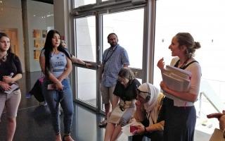 תמונות מהביקור של סטודנטים מהחוג במוזיאון ישראל